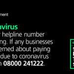 Image for the Tweet beginning: Our tax helpline number is
