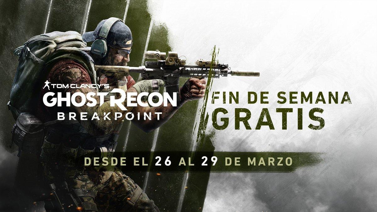 ¡Atentos, Ghost! El Free Weekend ha comenzado y ya puedes jugar a #GhostReconBreakpoint  GRATIS.   Lucha contra los Wolves gratis del 26 al 29 de marzo, y si te mola, lo tienes desde solo 19,80€:  https://ubi.li/L1Qvf