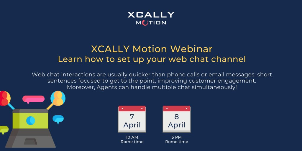 Using #webchat  you can improve agents efficiency! Join our #webinar   https://www.xcally.com/webinar    #xcally  #xcallymotion  #customercare  #customerexperience  #callcentersoftware  #callcentersolution  #customersupport  #contactcenter  #omnichannel  #webinars  #software  #technology  #communication