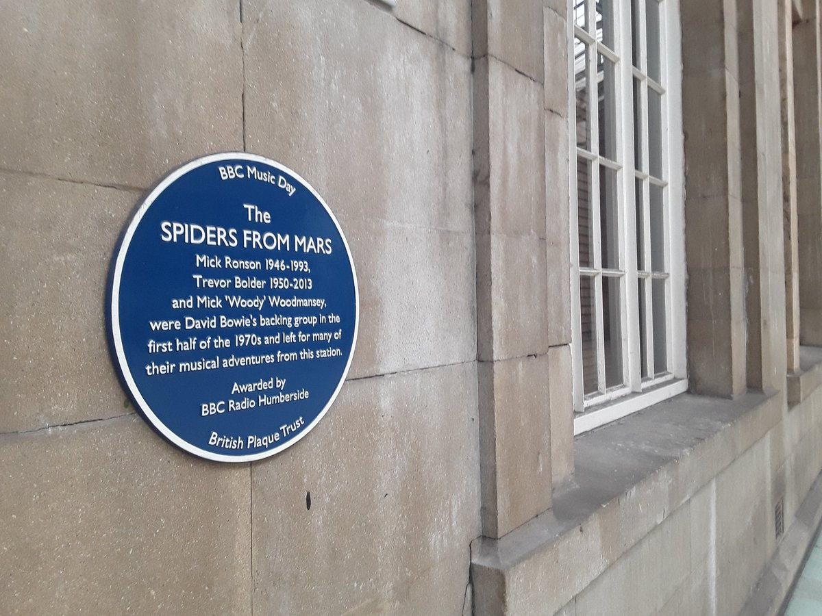 Lots of #BluePlaques in #HU1.   Can mine proudly mispell #Bankok in tribute to @hulllive, William Booth, The Spiders from Mars & @SpiderMan? All #Homies   'With Great Power Comes Great Responsibility'   @TomHolland1996 @DavidBowieReal @hullparagonstat @AbsCultured @DisneyPlusUK https://twitter.com/nufchull/status/1243193170223128576 …pic.twitter.com/XTMrvjxOQc