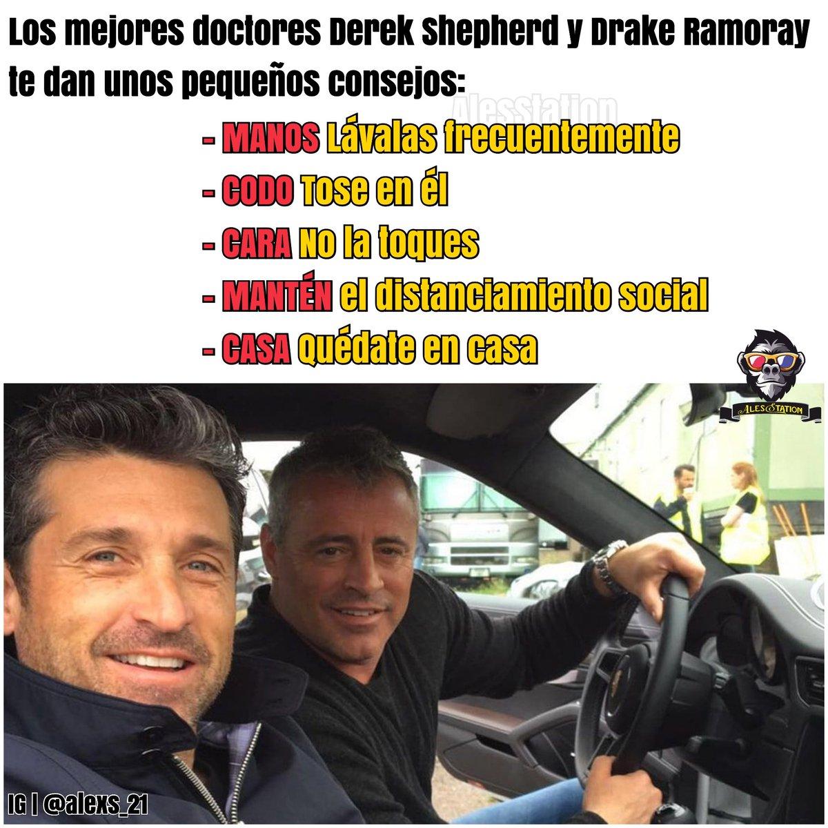 Los Dr. #DerekShepherd #DrakeRamoray te dan unos consejos Ellos son los únicos que pueden salvarnos #Coronavirus #COVID2019 #joeytribbiani #friends  #friendstvshow #mattleblanc #drderekshepherd #COVID19Ecuador #ToqueDeQuedaEcuador #GreysAnatomy #ABCNetwork #PatrickDempseypic.twitter.com/0nLy7sGu6A