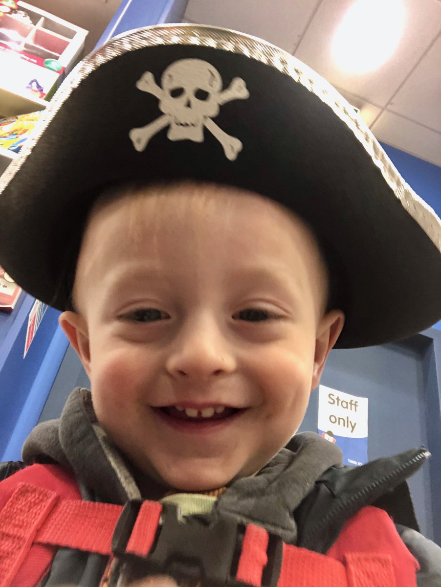 @Jennie_Dale Thank you! He was very proud to buy his first pirate hat recently ... He says a big hey-ho back 🏴☠️👋🏻