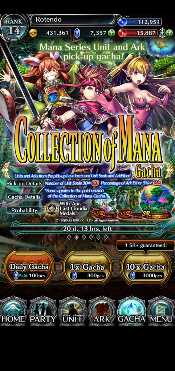 Thank you @lastcloudiaen for bringing back the Secret of Mana Collection! It's the reason I started playing this game and the game itself was so good, I got hooked. #lastcloudia #collectionofmana #secretofmanapic.twitter.com/CQtHRY1a1v