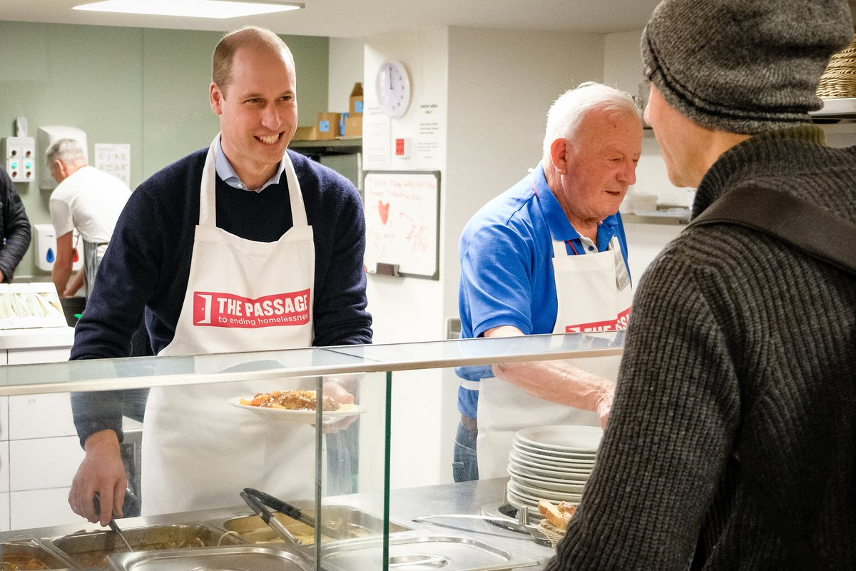 The Duke of Cambridge speaks to The Passage Chief Executive, Mick Clarke: This is a life and death fight to help the homeless during the #coronavirus crisis: passage.org.uk/duke-of-cambri…