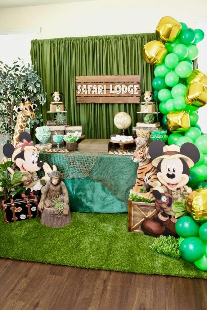Mickey mouse Safari birthday party supplies Mickey mouse Safari Birthday Party