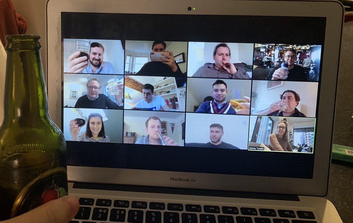The Field Team's #Zoom pub quiz is well underway! Cheers 🍻 #ThursdayMotivation #CoronavirusLockdown #TeamFeeling