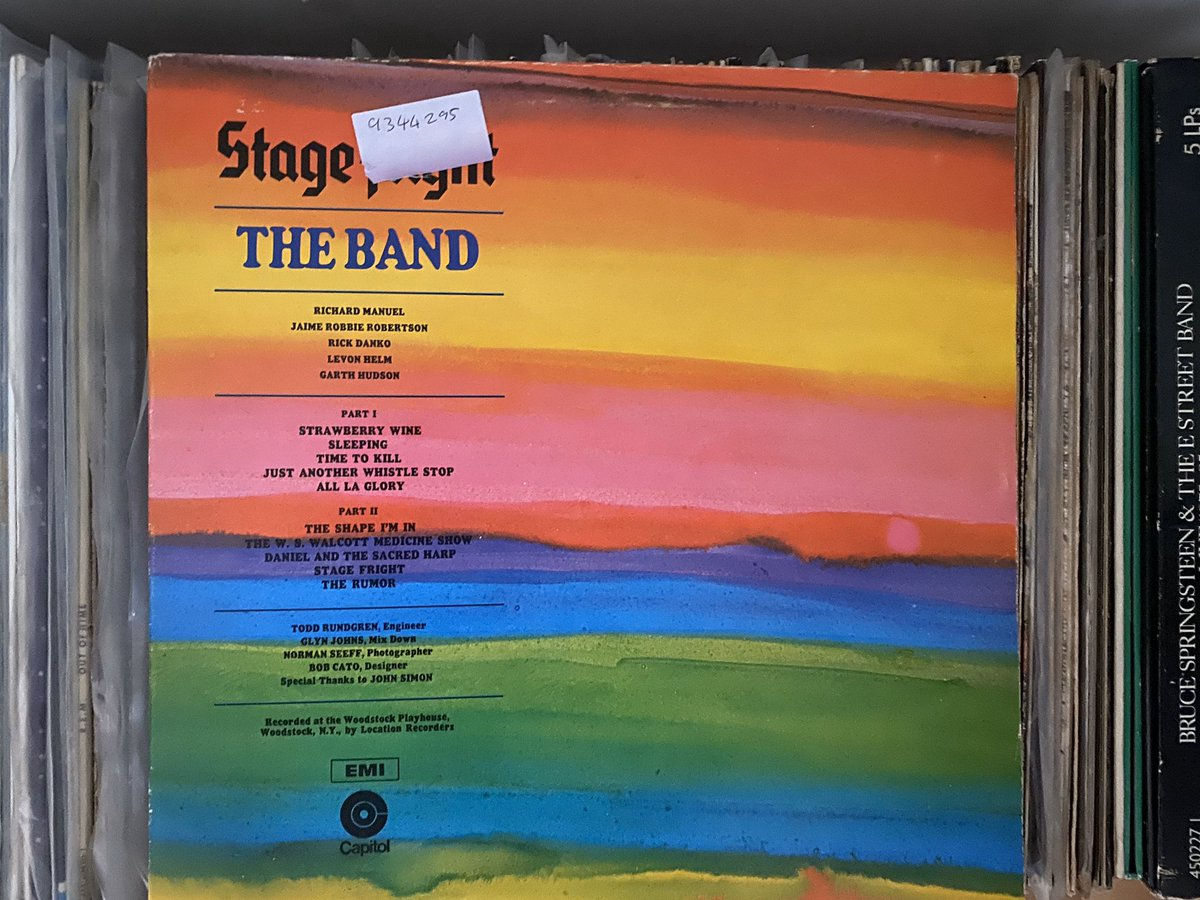 Day 6: yet more of The Band (just wait until The Beatles)... Today's #recordaday is The Band - Stage Fright (1970) pic.twitter.com/F1dAKa5tpI