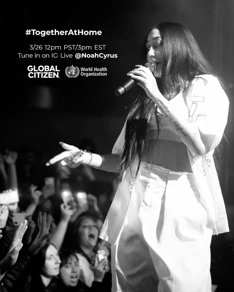 tune in on my IG live 🖤 @GlblCtzn @WHO #TogetherAtHome