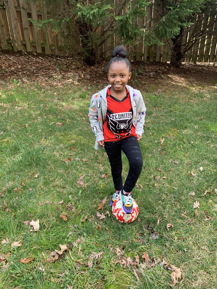 Playing soccer in her D.C United jersey. #flesspirit @flesbcps