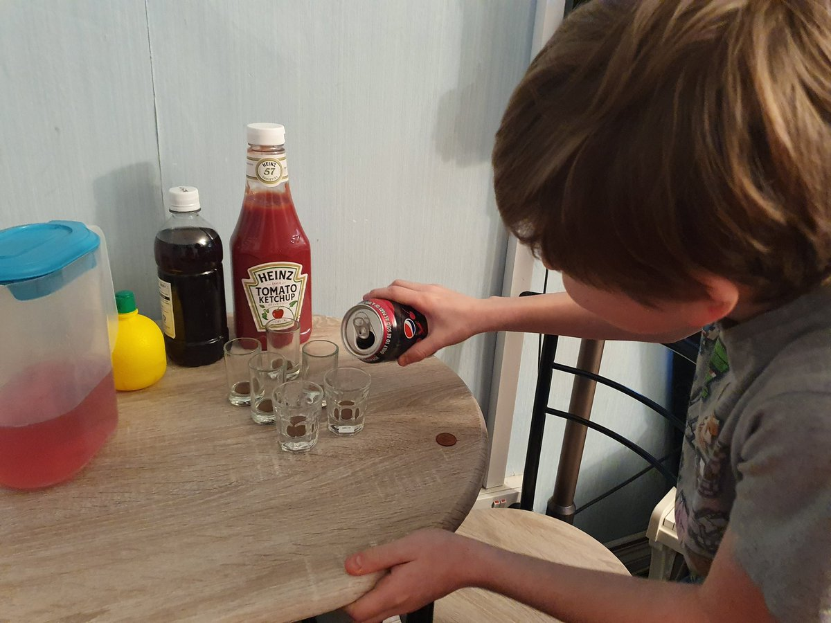callum doing a penny science test