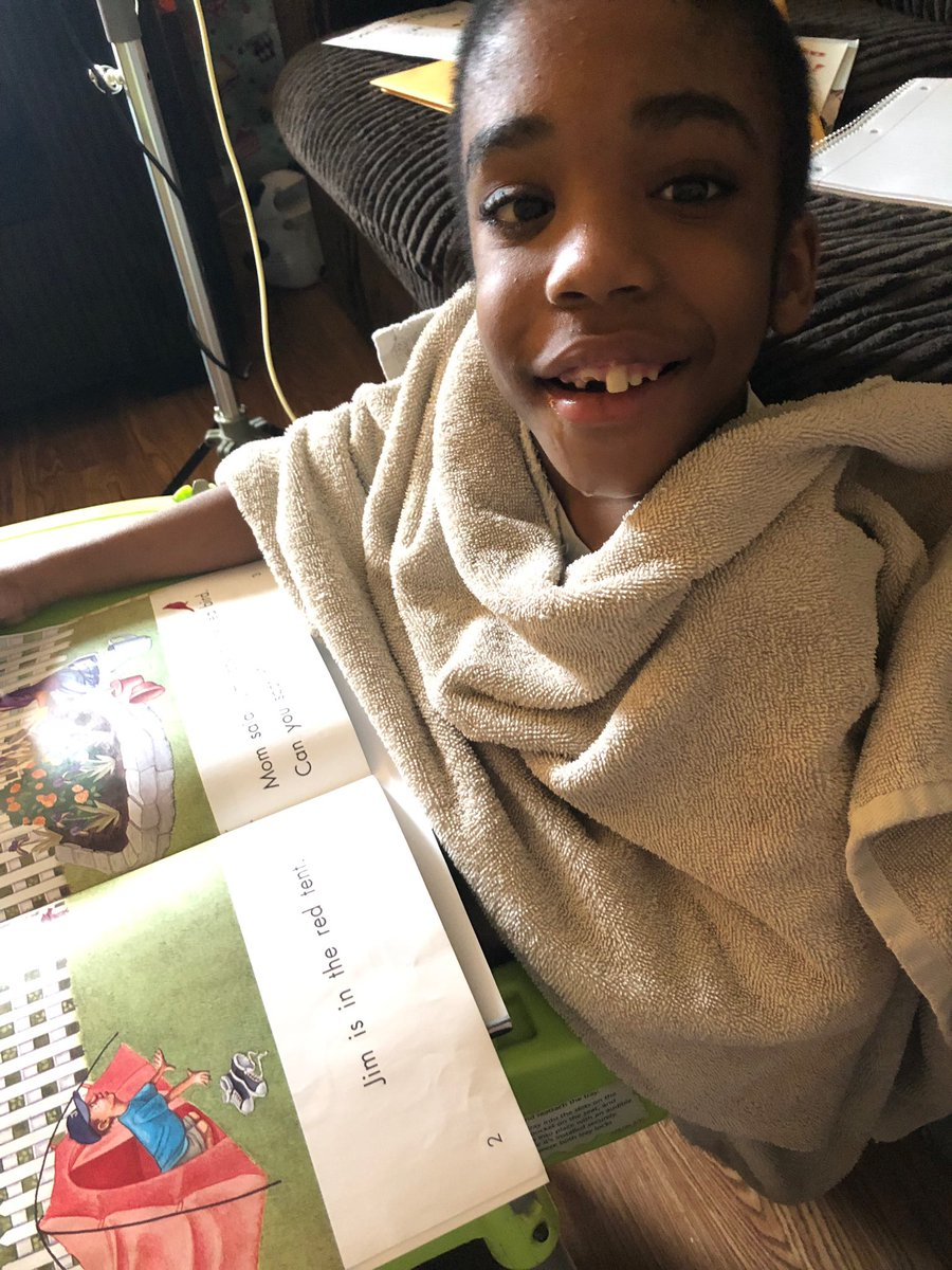 "Hey #WacoISDReads look at Mr. Antwone reading at home ""Look at the Red Bird""! #weareCrestview #read"