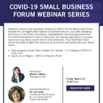 Image for the Tweet beginning: TOMORROW: Webinar with #SmallBiz resources