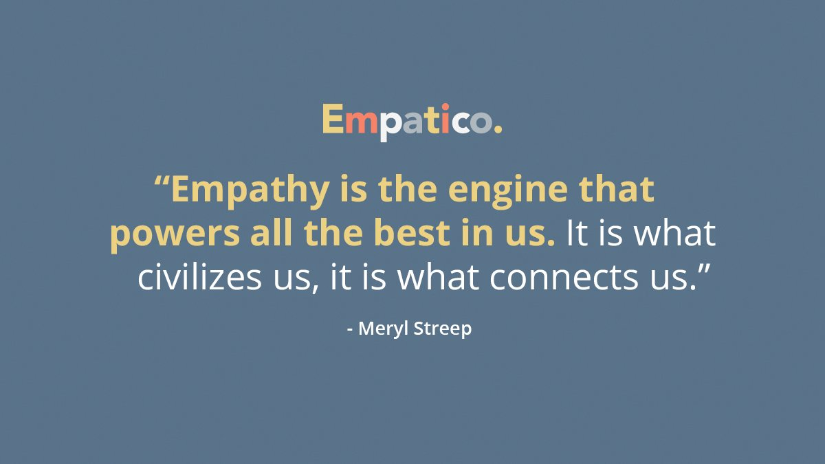 With empathy, we'll get through this together.