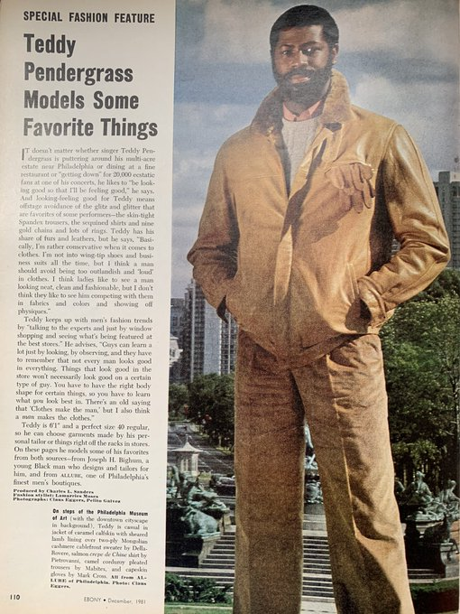 April 1973. Found this feature. Happy Birthday Teddy Pendergrass  .