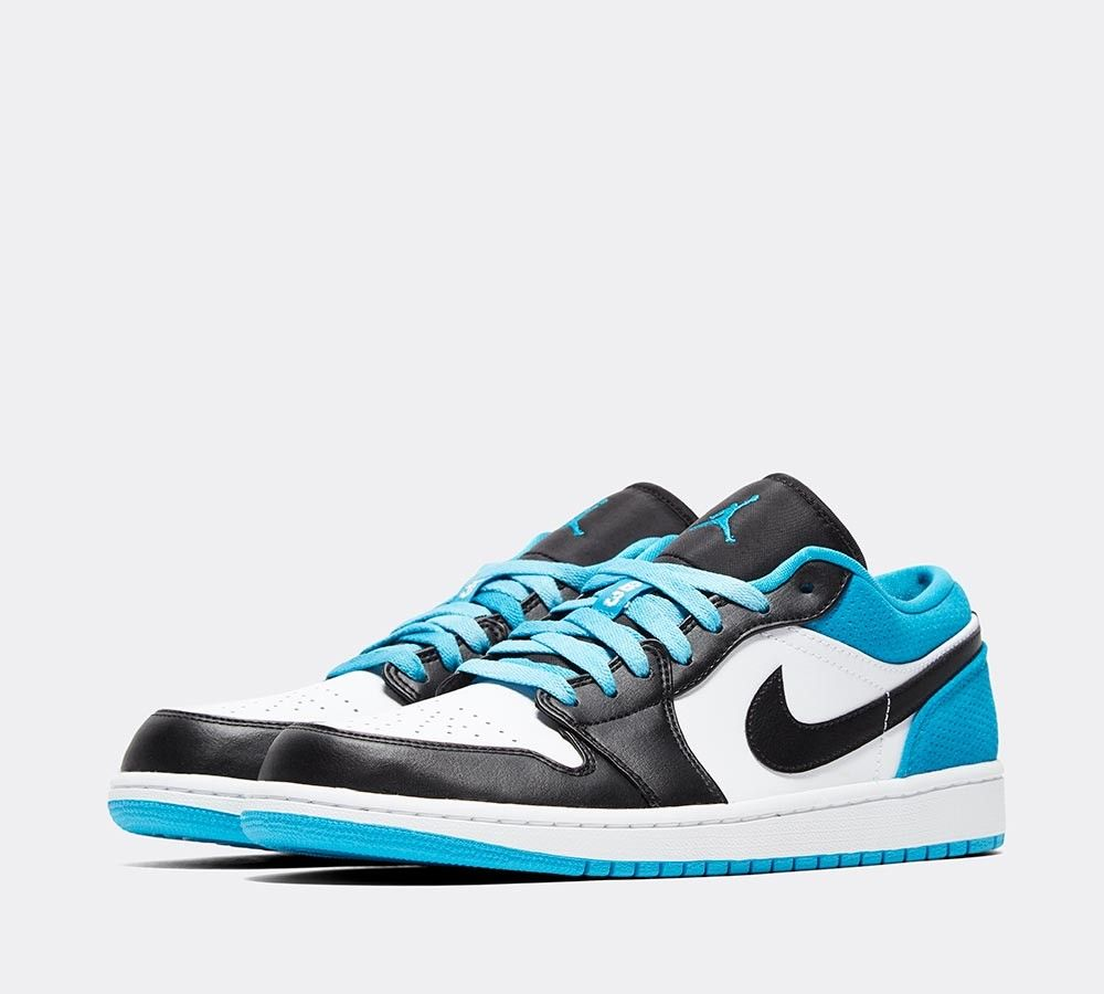 Sneaker Myth On Twitter Ad Air Jordan 1 Low Laser Blue Full Size Run Available At Foot Asylum Https T Co Azycnaoumo