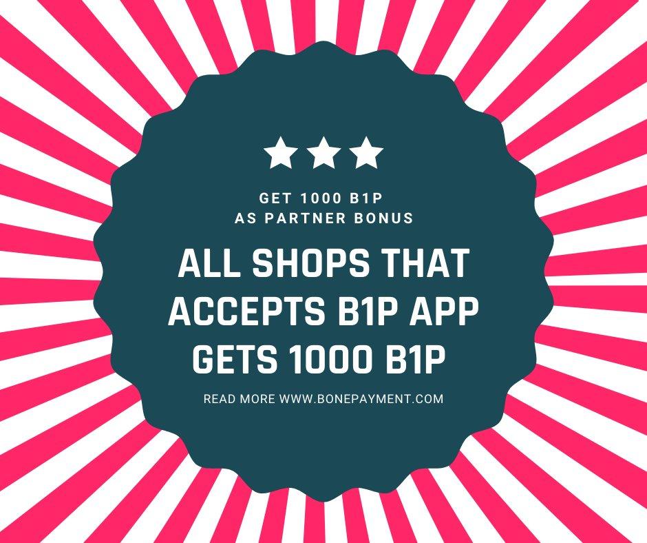 GET 1000 B1P as a Partner Bonus if you start to Accept   B ONE PAYMENT in your Shop   SIGN UP TODAY:  https://docs.google.com/forms/d/e/1FAIpQLScODUETy0vheJXkvtf13aRrxlLp6PhZOFWdPIkyBJn9SJYpLQ/viewform…    #crypto #blockchain #btc #shopping #cryptoshop #btcshop #cryptonews pic.twitter.com/py7Bqltg8l