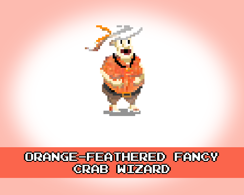 Orange-Feathered Fancy Crab Wizard #Crab pic.twitter.com/fpZDA6kdnH