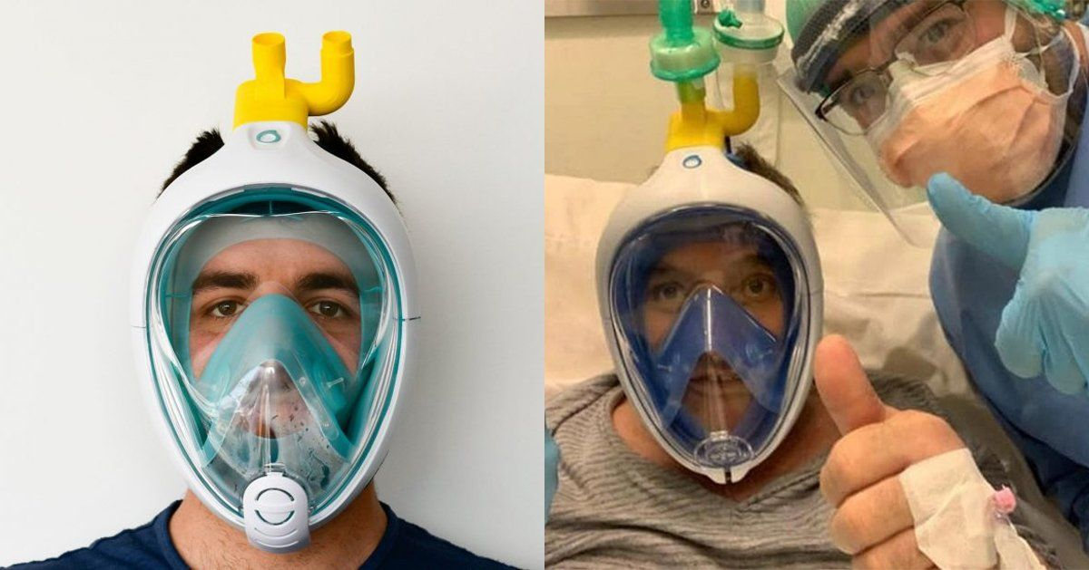engineers use 3D printing hack to turn decathlon scuba masks into ventilators