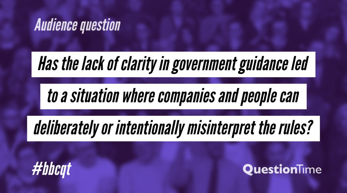 Heres our next question from the audience at home. We have no studio audience tonight, so tweet your comments and questions for our panel at #bbcqt