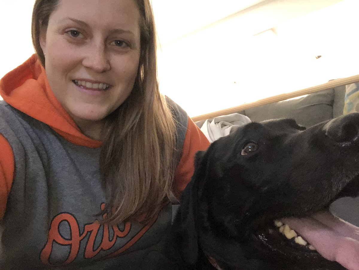 Happy Thursday @flesbcps ! Ruger and I always cheer for the O's ⚾️ #VirtualSpiritWeek