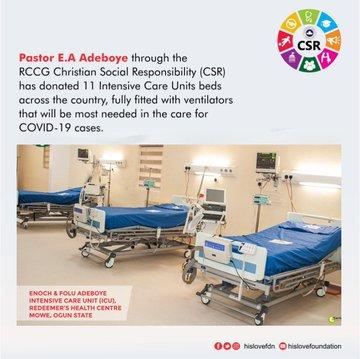 On Coronavirus: Pastor E.A Adeboye Donates Beds and Ventilators to Lagos, See Photos
