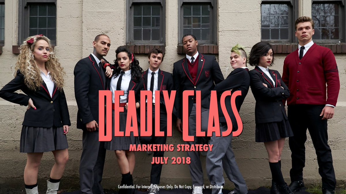 And I'll close my trip down Deadly Class TV show memory lane with these great group shots: