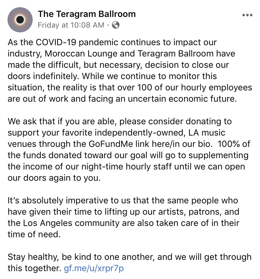 Statement regarding @TeragramLA and @moroccan_lounge gf.me/u/xrpr7p