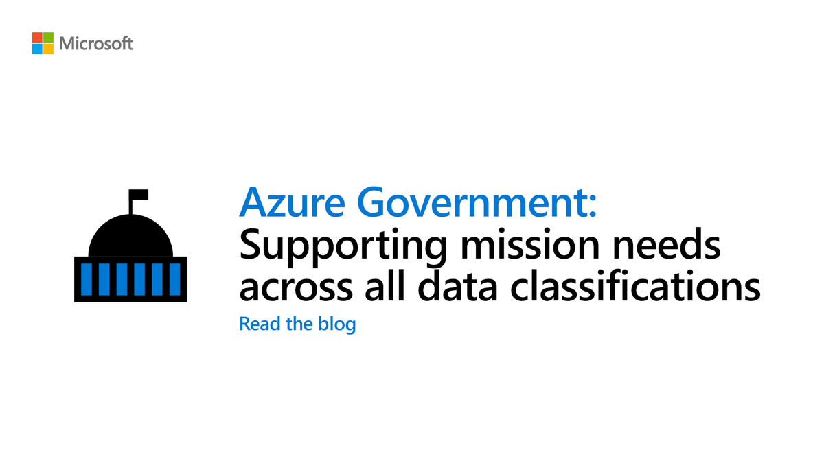We've released 40+ new services in #Azure Government—nearing parity with #Azure commercial for our US #government customers. Read the blog: https://msft.it/6018Tdx3n