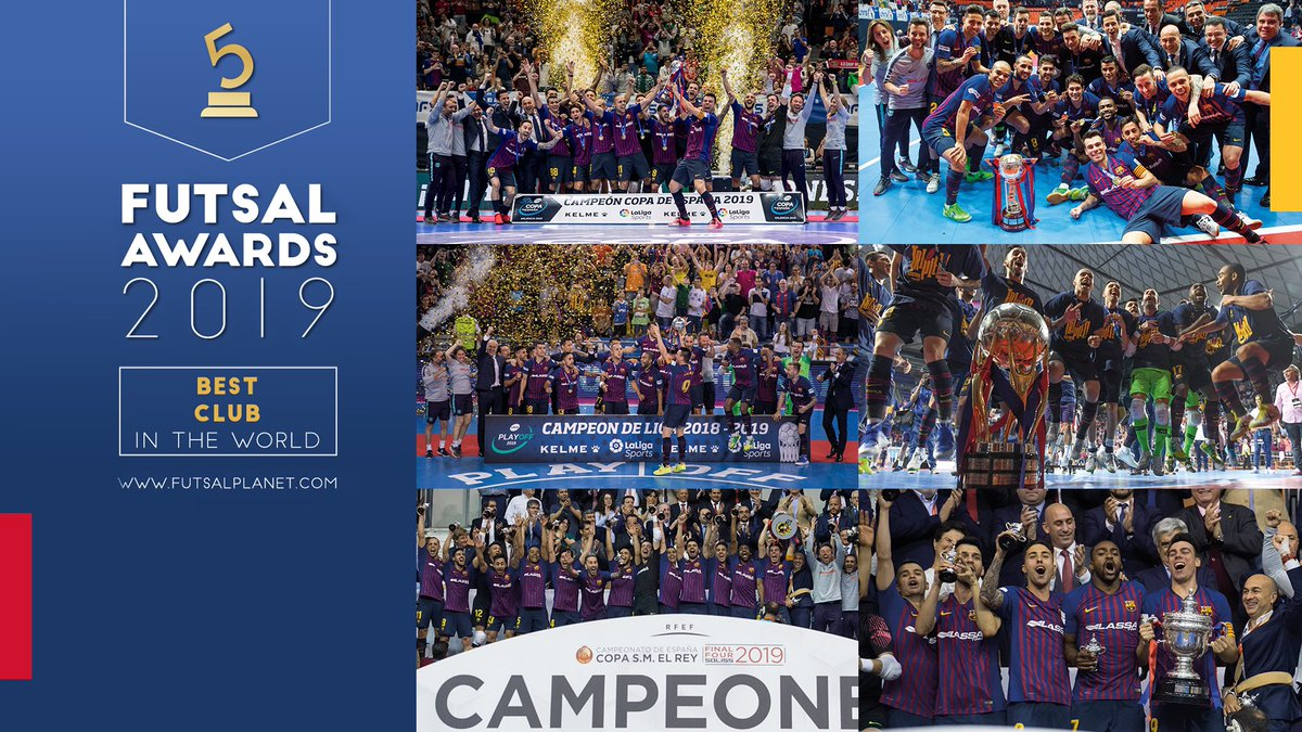 @FCBfutbolsala nombrado mejor equipo y club del mundo. @Adolfitoo7 @Ferrao11futsal @andreuplaza que orgulloso de todos vosotros.equipazo!!!!!