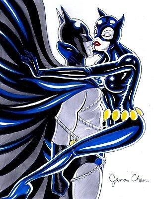 #Batman #Catwoman #BatCat by JAMES CHEN #BatCat80 #Catwoman80pic.twitter.com/81pE1P28eX