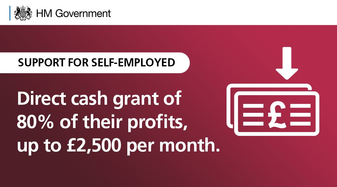 We're supporting the self-employed with direct cash grants.