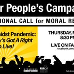Image for the Tweet beginning: TONIGHT: Join the #PoorPeoplesCampaign at
