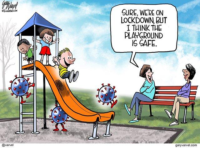 "varvel on Twitter: ""How safe is the playground? #coronavirus ..."
