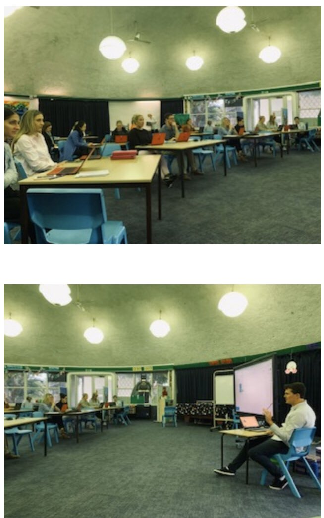 Another great example of collaboration and support in the Pittwater Network. Narrabeen Sports HS Head teacher Cameron and TAS teacher Cathy volunteer to deliver online learning PL for the Narrabeen North PS staff. @narrabeenshs @CathyBrennan1pic.twitter.com/YsgGOG3JJx