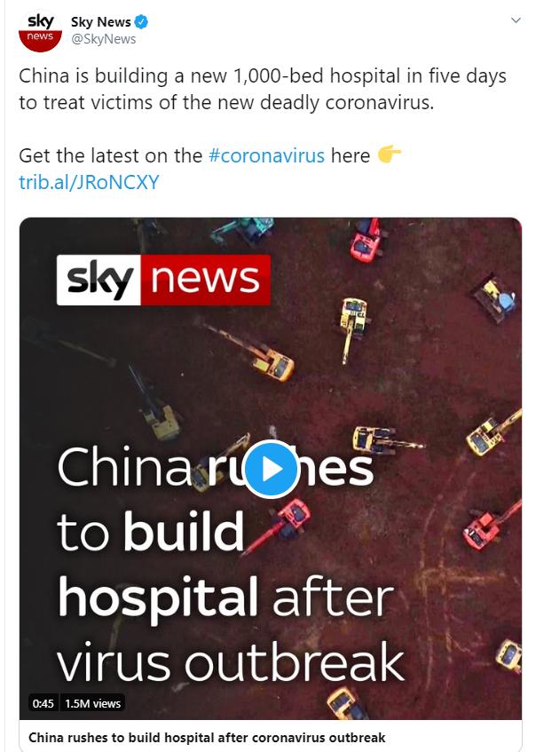 China built hospitals, the US is building morgues.