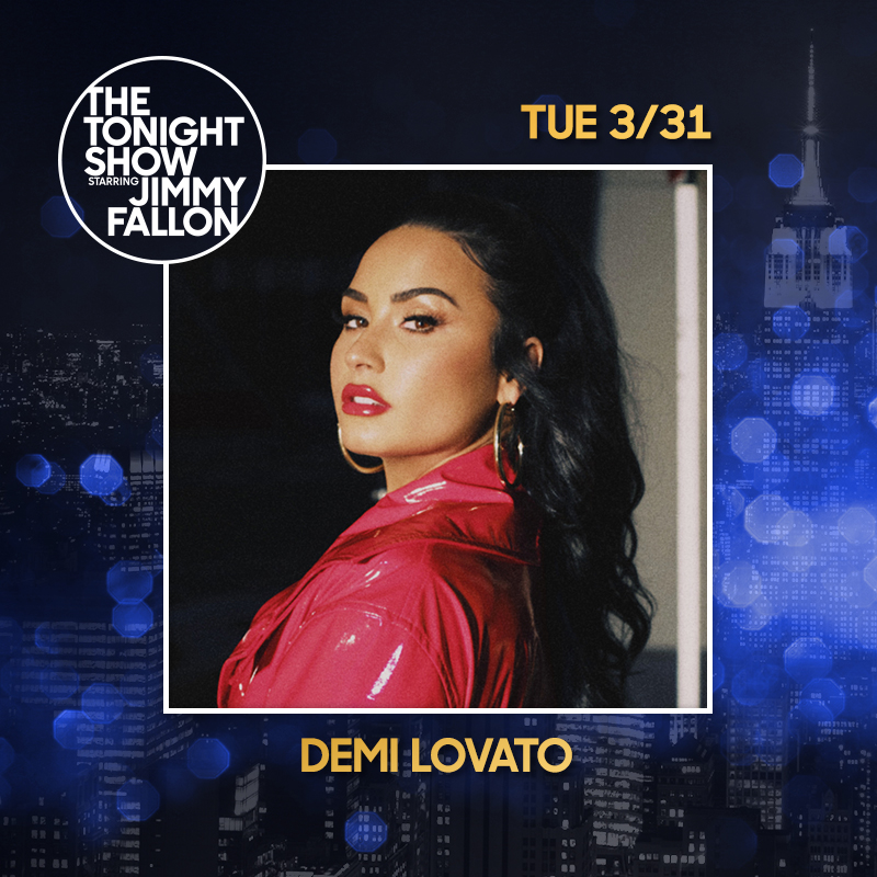 Next week Demi will be on the @FallonTonight show on 3/31! 💗 #FallonAtHome