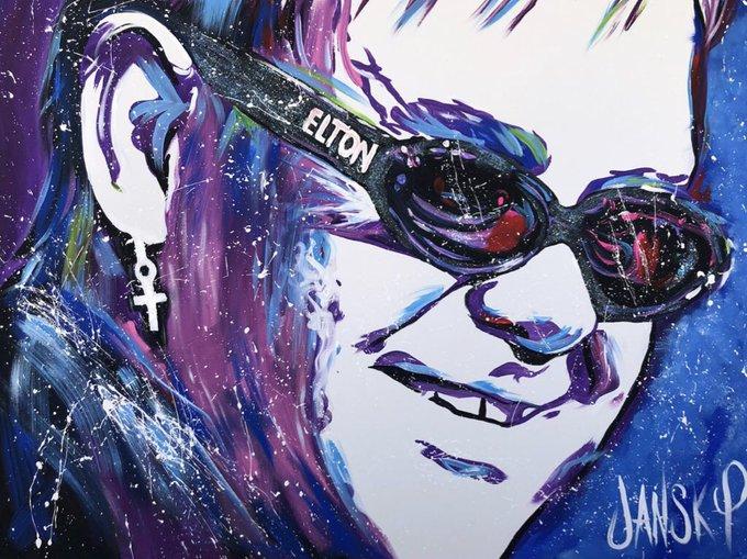 Happy birthday my painting of Sir Elton John.