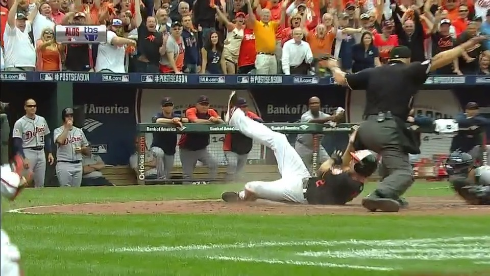 'SAFE! THE ORIOLES HAVE THE LEAD!' #OpeningDayAtHome