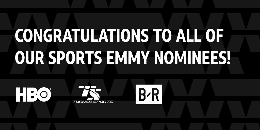 Proud to receive 33 @SportsEmmys Award nominations across the WarnerMedia portfolio. @TurnerSportsPR and @BleacherReport earned a combined total of 17 nominations, with @HBO Sports garnering 16 #SportsEmmys nominations. Congratulations to all involved!