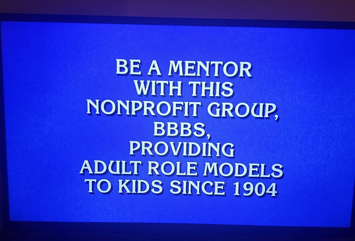 My good friends, Big Sisters, and now BIG Recruitment Board Members Michelle Gapsky and Kendra Reith just sent me this clue from JEOPARDY tonight! Any good guesses for the answer? Have a feeling you can find out at http://www.bbbspgh.org #BeABig @BBBSPgh @BBBSApic.twitter.com/gaXqkiO5VP