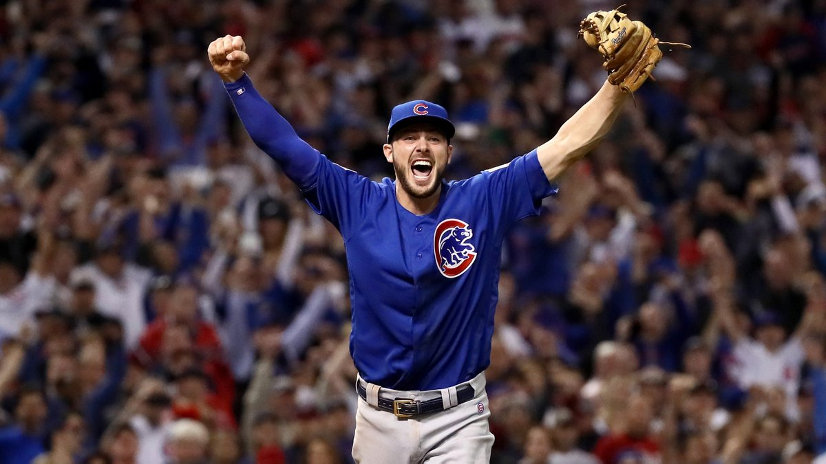 THE @Cubs WIN THE WORLD SERIES!!! #OpeningDayAtHome