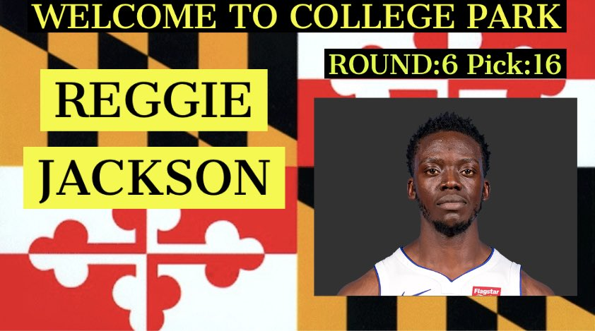 With our 6th pick in the draft we have selected @ Reggie Jackson (No Twitter), Welcome!