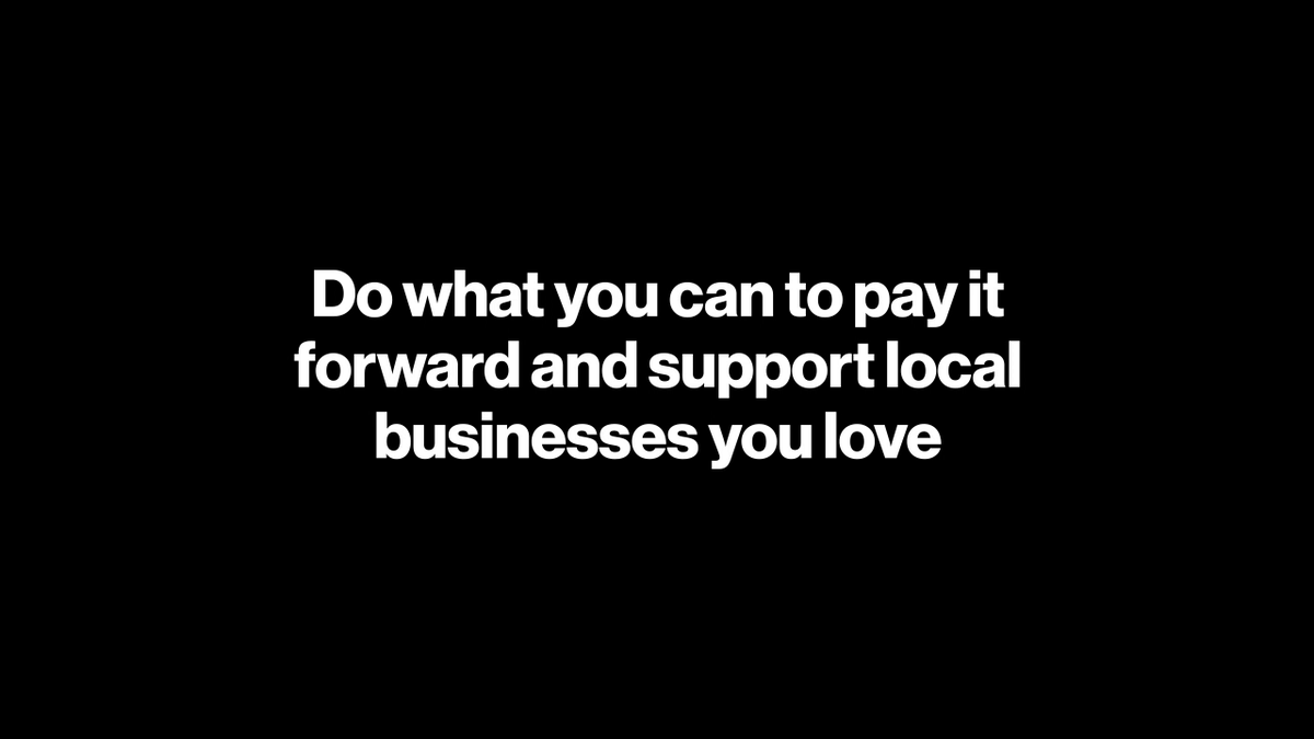 If you know the PayPal or Venmo handle for a smallbusinessor individualyou want tosupport,you can send money to them directly. If you're a small businessor individuallooking for help, head tohttps://t.co/qsga3ZDDKW orhttps://t.co/22jKWXETdo to sign up.