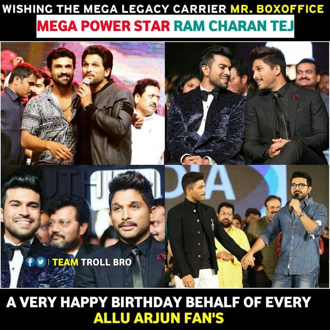 Happy Birthday Ram_Charan garu Behalf of Anna Fans