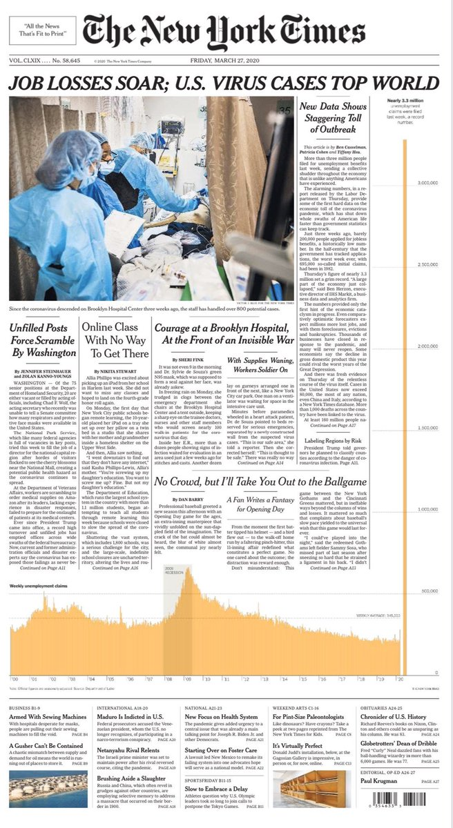 NYT's front page tmrw