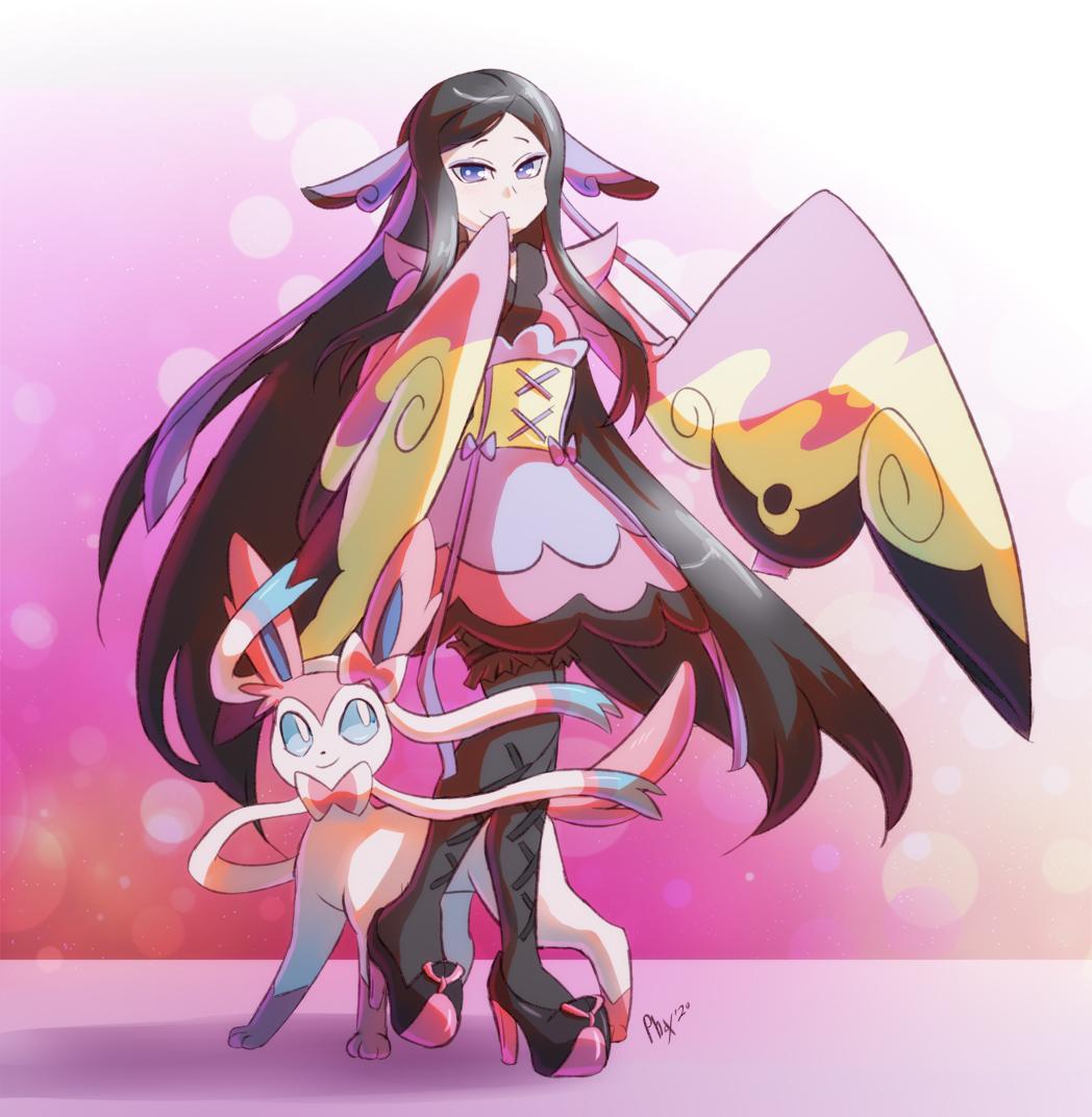 Valerie and Sylveon fanart, I love these two!✨ #pokemonfanart