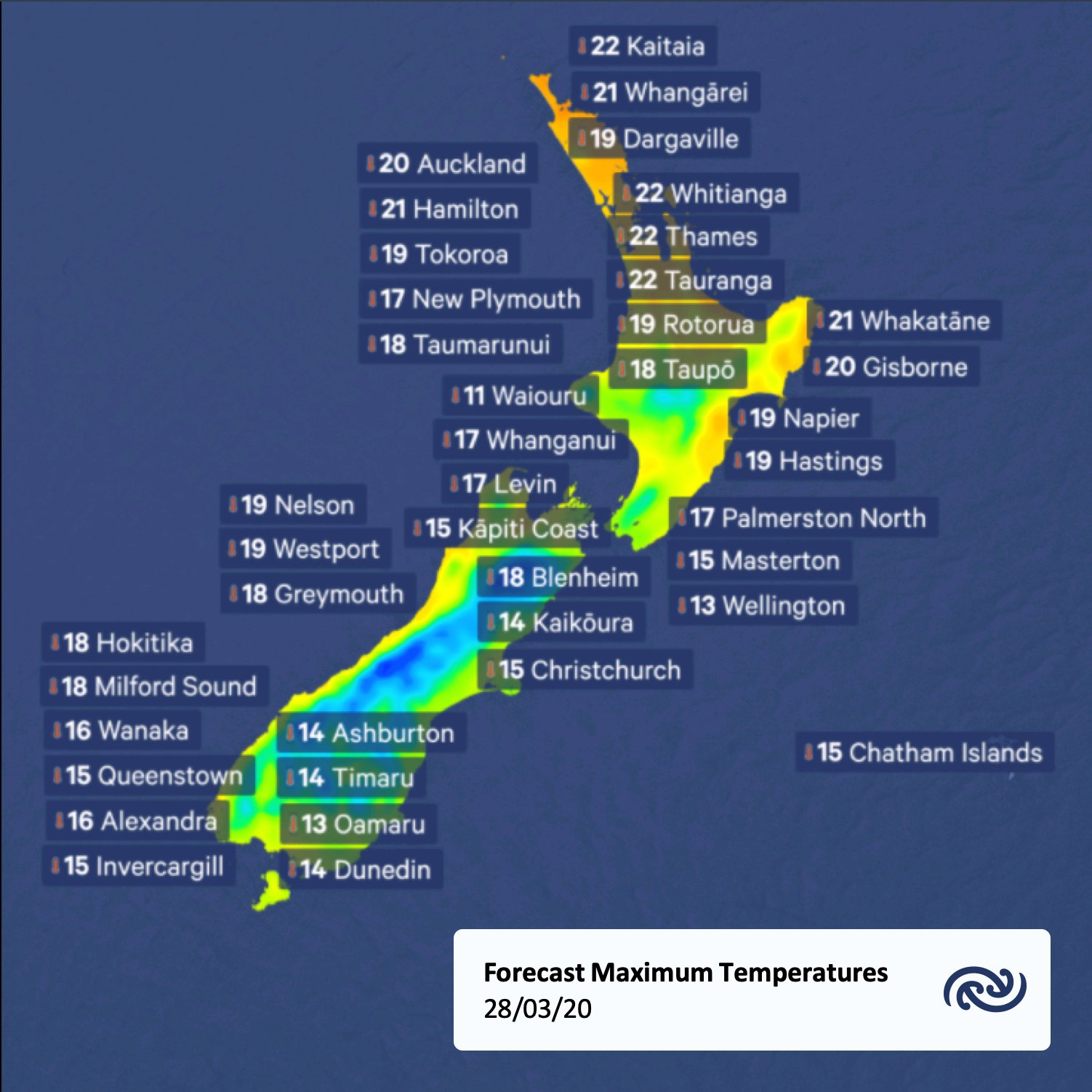 And tomorrow's maximum!   All the details at bit.ly/metservicenz    ^Tui https://t.co/R1oIM5LDQj