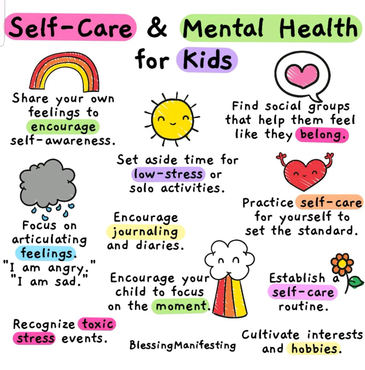 Taking care of mental health is the best thing we can do for kids right now! 🙌