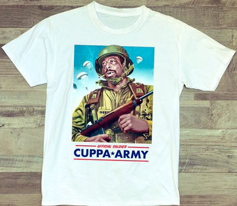 Join The Army, The Cuppa Army cuppaarmy.com artwork credit @DavidGlantz3
