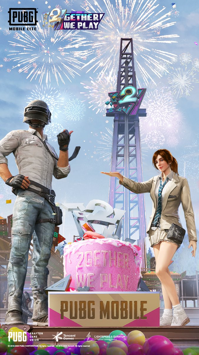 """PUBG MOBILE On Twitter: """"Want An Awesome New Background For Your Phone  Inspired By Our 2nd Anniversary? #2getherWePlay Simply Save The Image Below  And Upload It In Your Phone"""